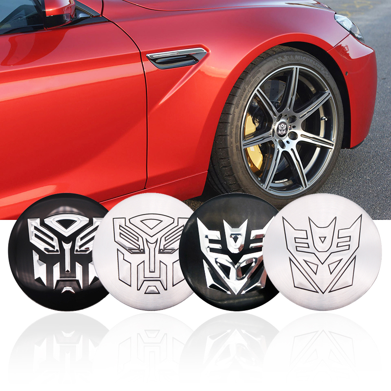4pcs Auto Man Transformers Car tire Wheel Center <font><b>sticker</b></font> Hub <font><b>Cap</b></font> Badge Decals For Audi BMW Nissan <font><b>VW</b></font> KIA Mitsubishi Ford Hyundai image