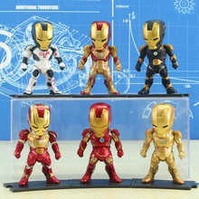 Maravilha Figuras de Ação & Toy PVC Avengers Iron Man Toy Collectible Modelo Thor Spiderman Thanos Captian América Anime Presente(China)