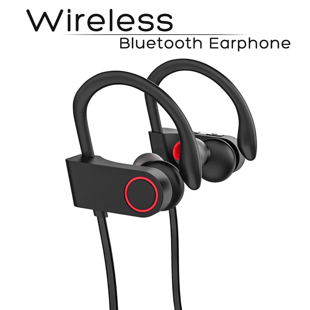 Sports Sem Fio Bluetooth Earphone Gancho do Ouvido Fone De Ouvido Cor Preta Compatível com iPhone 6 7 8 iPhone X Xr Xs Xs max.