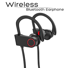 цена на Sports Wireless Bluetooth Earphone Ear Hook Headphone Black Color Compatible with iPhone 6 7 8 iPhone X Xr Xs Xs max.