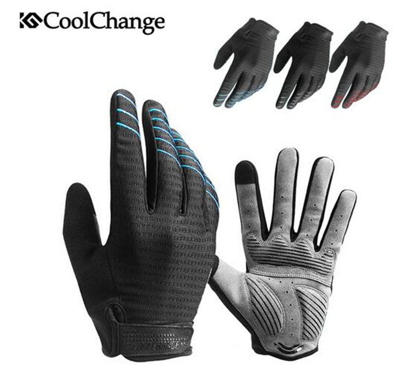 CoolChange Cycling Gloves Sponge Pad Long Finger Sport Touch Screen Gloves Bike Shockproof Motorcycle Man Woman