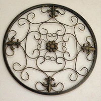 Wrought Iron Decoration Hanging Wall Simple Mural Garden Chinese Living Room Decorative Wall Circular Wall Decoration