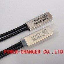 цена на 100PCS Thermostat 10C-240C KSD9700 160C 165C 170C 175C 180C 190C195C Bimetal Disc Temperature Switch Protector degree centigrade