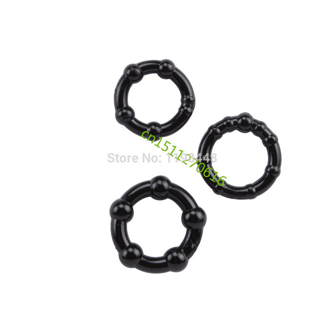 Penis Cock Rings Wholesale 3PCS/SET With Powerfull Adult Sex Toys For Men Delayed Ejaculation Rings