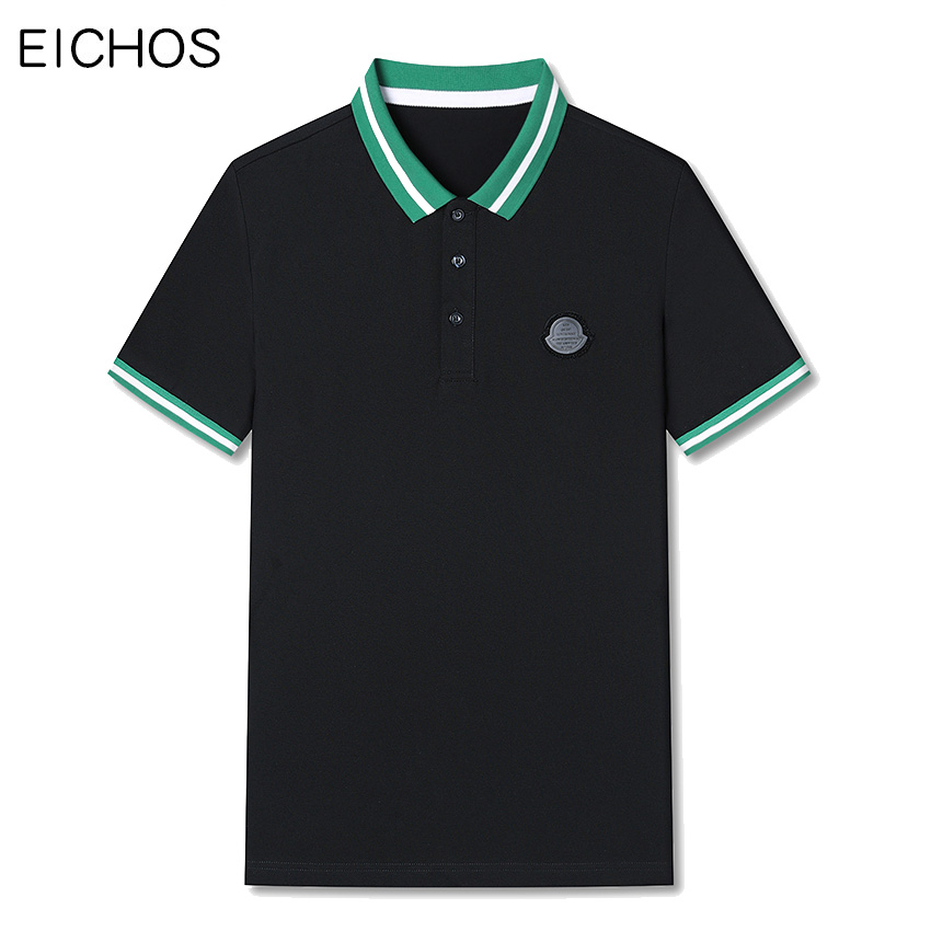 Summer mens   polo   tops Striped Lapels   polo   shirt Men Short Sleeve 98% Cotton poloshirt Fashion Slim Fit   polo   Men Shirt Plus Size