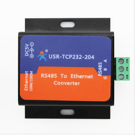 ФОТО Free shipping (USR-TCP232-204) Serial RS485 to TCP/IP Ethernet Server
