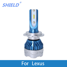 2 Pcs Car LED Headlight Kit H4 H7 led 9006 9005 H1 H3 12000LM CSP Chips For Lexus GS300/IS200/LS400/GX460/Rx450h/IS250/RX300 2 pcs car led headlight kit h4 h7 led 9006 9005 h1 h3 h11 80w 6000k 12000lm csp chips for seat ibiza leon altea toledo arosa