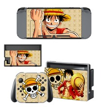 Anime One Piece Luffy Skin Sticker vinyl for NintendoSwitch Sticker Skin for Nintendo Switch NS Console and Joy-Con Controller