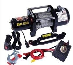 5000lb -- 12000lb 12В портативная электрическая лебедка автомобильный Грузовик Авто баржа прицеп Ручной Инструмент Съемник стальной трос