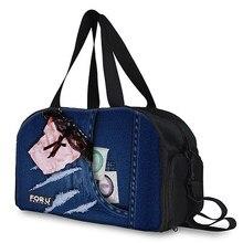 0cfba032ae2b Forudesigns Портативный Для мужчин Дорожная сумка большая Ёмкость Для  женщин Чемодан путешествовать Сумки Холст Путешествия складной