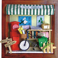 13,631 small post office diy wooden dollhouse miniature doll house miniatures for decoration kids gifts free shipping