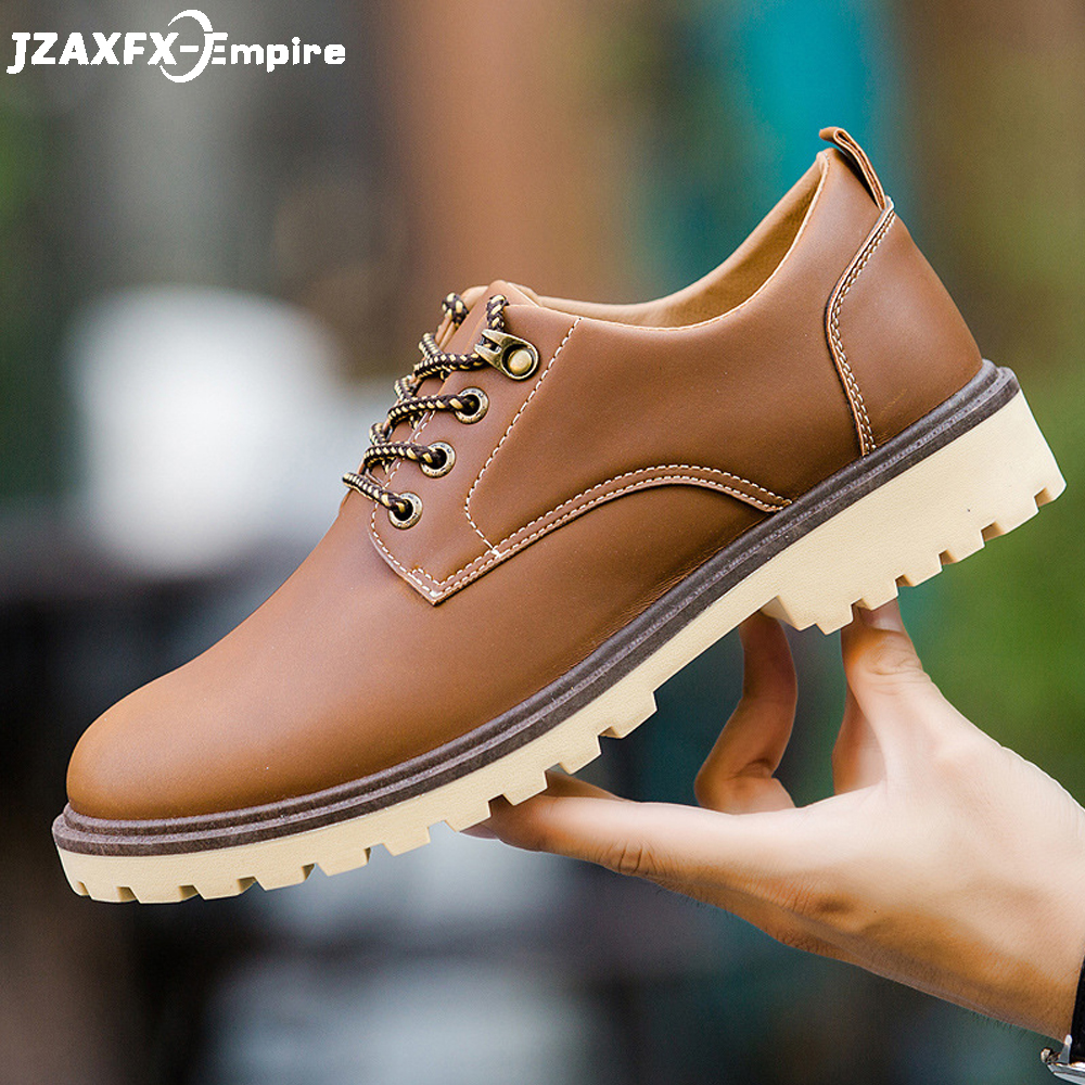 Brand Men Leather Casual Shoes Lace-up Comfort Oxfords Shoes For Male Top Quality Casual Shoes Men 2019