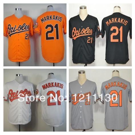 0ace7957d baltimore orioles wikipedia  black retail prices 5c597 03c74 cheap baltimore  orioles jersey shirt 21 nick markakis baseball jerse