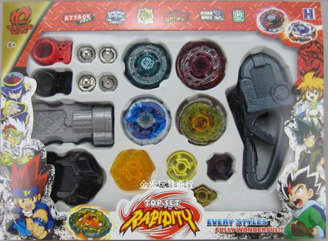 1set New Metal Beyblade toy for children Spinning Tops Toys With Four Beyblade kids best birthday/Christmas gift  XX1122