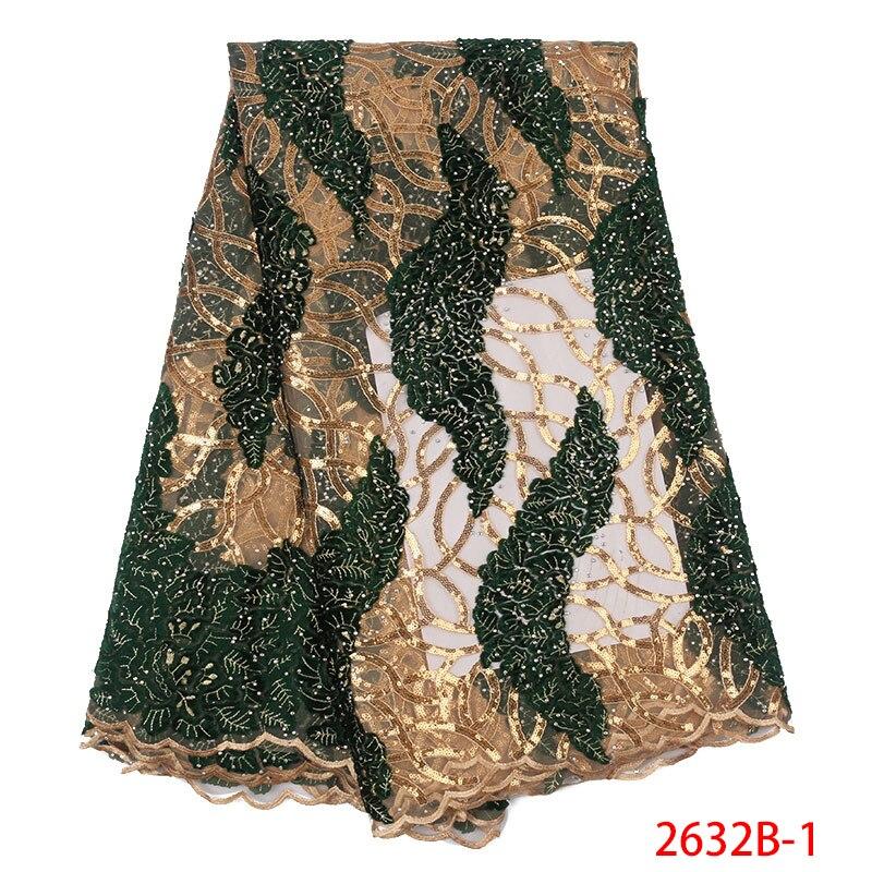 عالية الجودة النيجيري أقمشة الدانتيل الأفريقي الترتر الدانتيل النسيج أحدث ثوب حريري للزفاف الدانتيل الأقمشة لحفل الزفاف اللباس APW2632B-في دانتيل من المنزل والحديقة على  مجموعة 1