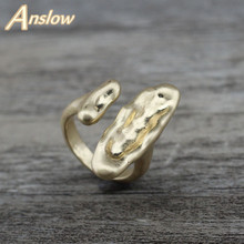 Anslow 2019 New Fashion Jewelry Vintage High Quality Male Mens Mental Ring For Men Gold/Antique Silver Big LOW0021AR