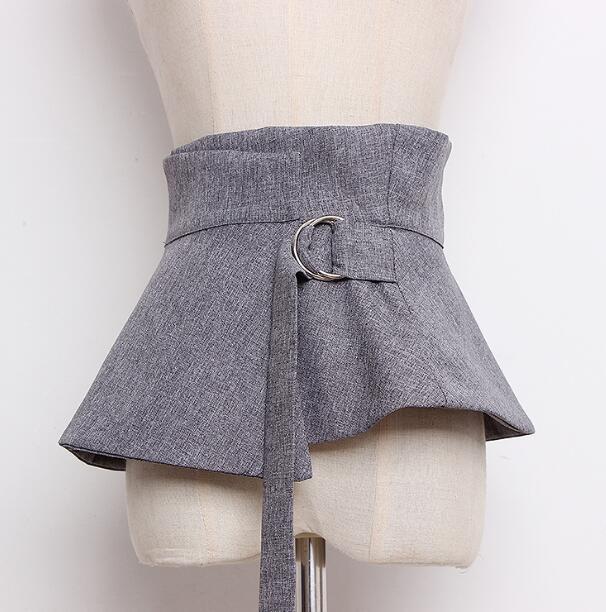 Women's Runway Fashion Wide Fabric Cummerbunds Female Shirt Dress Corsets Waistband Belts Decoration Wide Belt R892