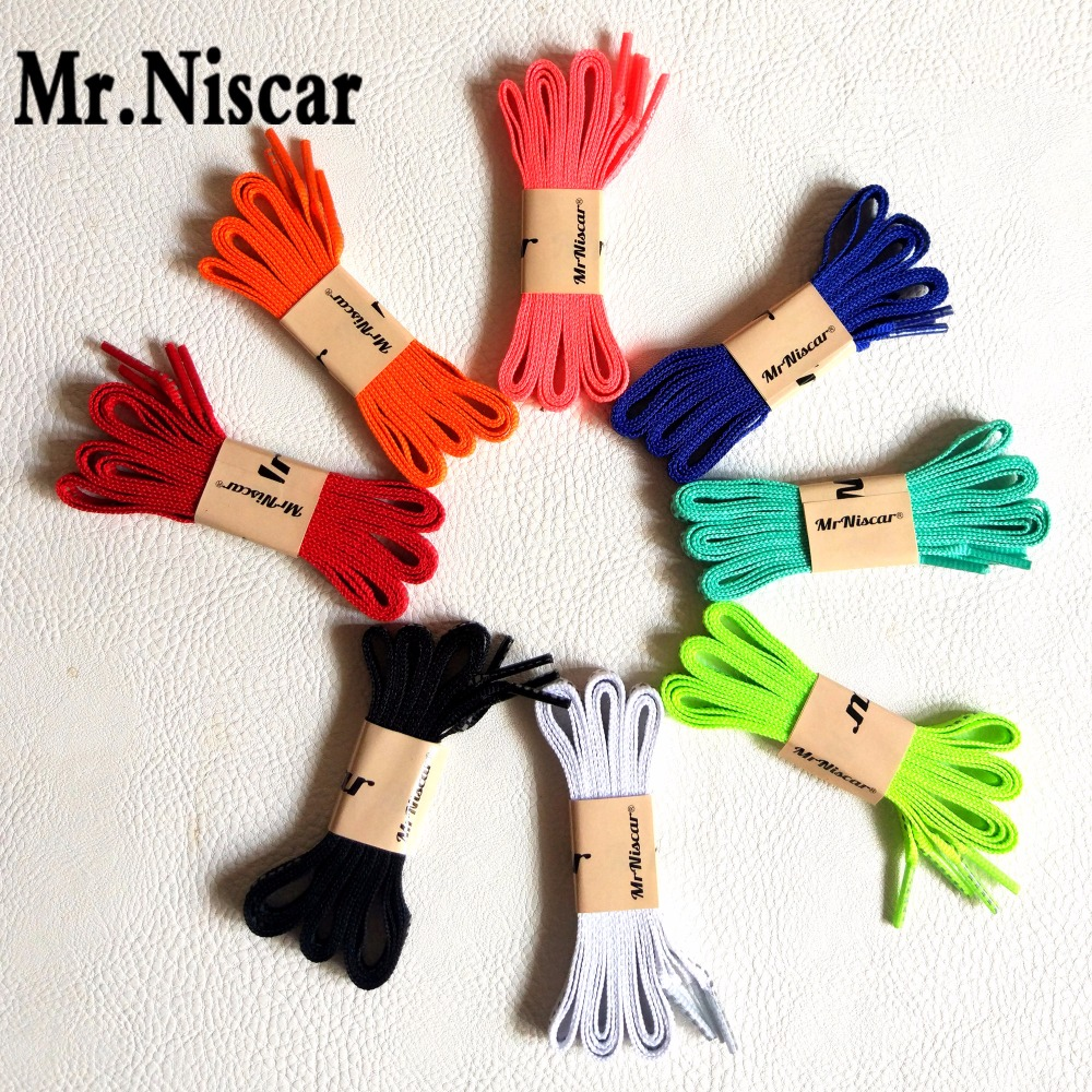 Mr.Niscar 2 Pair Reflective Shoelaces Visibility Flat Shoe Laces Running Cycling Safty Shoestring Fashion Party Camping Strings
