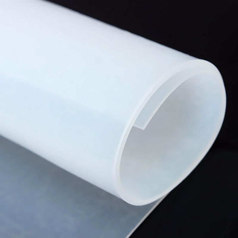 1pc 1mm Thickness Silicone Rubber Sheet  500x500mm Translucent Plate Mat High Temperature Resistance size 200 200 5mm teflon plate resistance high temperature work in degree celsius between 200 to 260 ptfe sheet