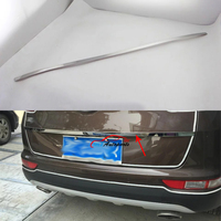 For Kia Sportage QL 2016 2017 Rear Trunk Lid Strips Cover Frame Decoration Trim Stainless Steel