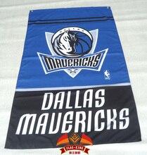 Dallas Mavericks Flag 3×5 FT 150X90CM Banner 100D Polyester NBA flag , free shipping