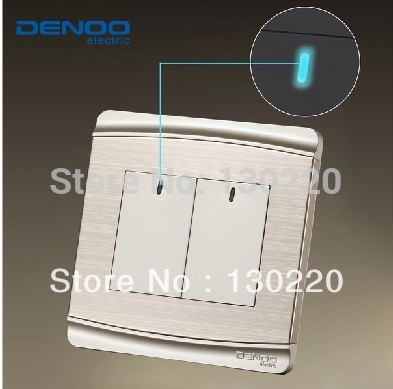 Free Shipping Wallpad Luxury Wall Switch Panel LED Indicator One