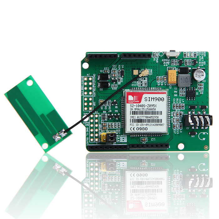 Geeetech Updated SIMCOM SIM900 Quad band Wireless GSM GPRS Shield Development Board