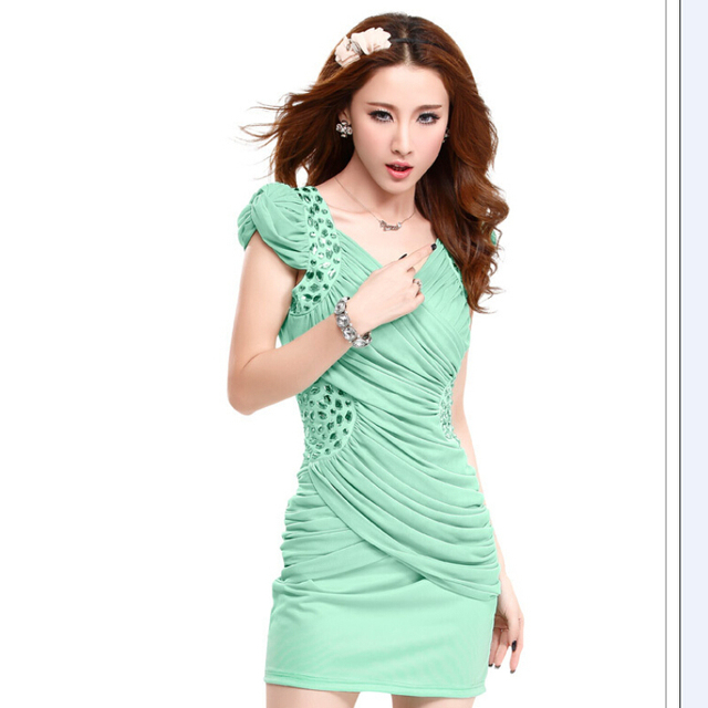2015 Newest Halter Backless Embroidery Formal Dress Low Price Short