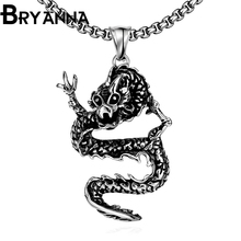 Bryanna Punk Long Chain Pendant Necklaces for man Jewelry colar 316L Stainless Steel Vintage men steampunk Dragon Necklace N2048