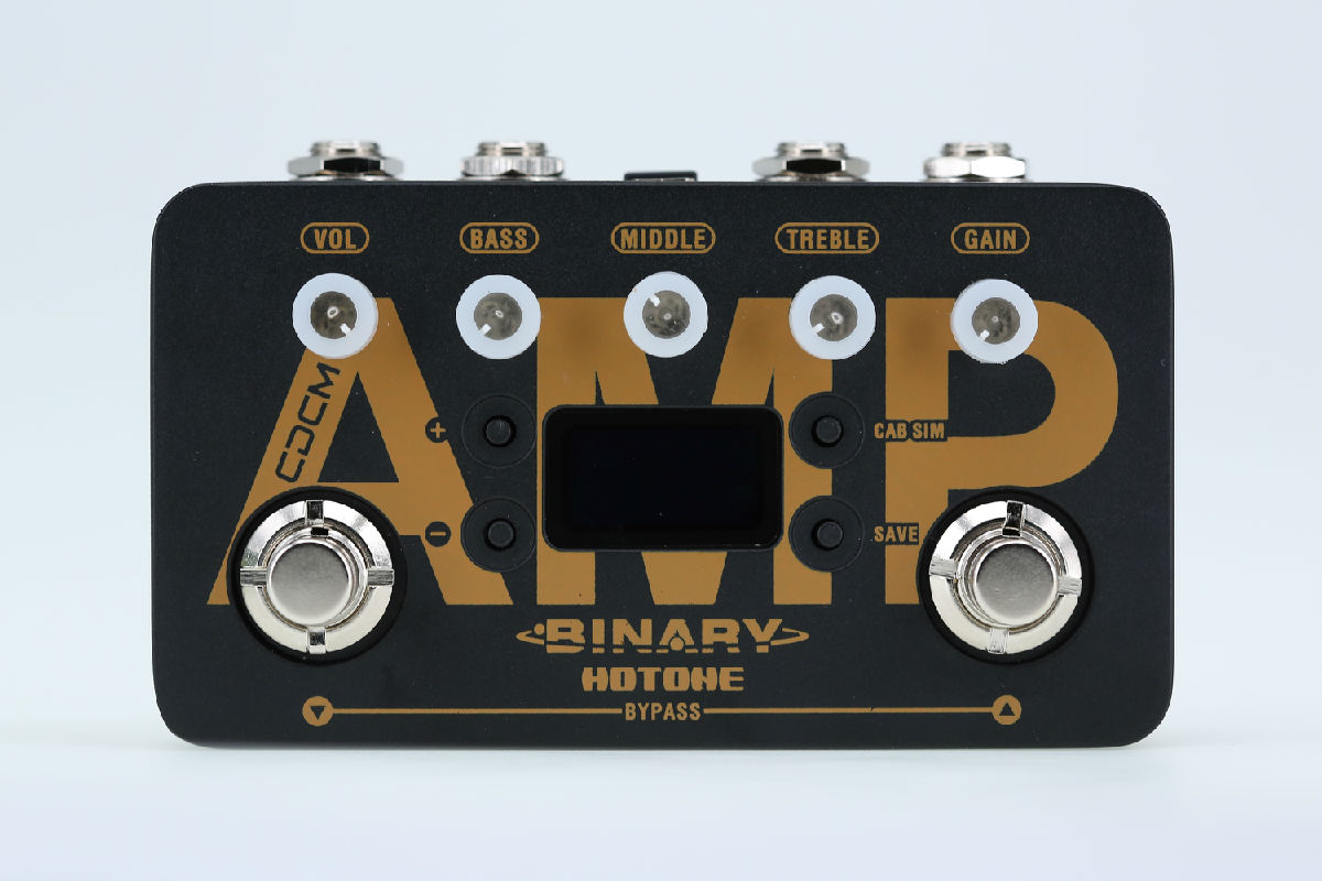 Hotone Binary Amp Simulation Pedal for Electric Guitars