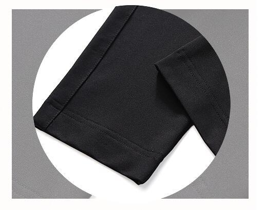elásticas calças de golfe de golfe preto com cinto