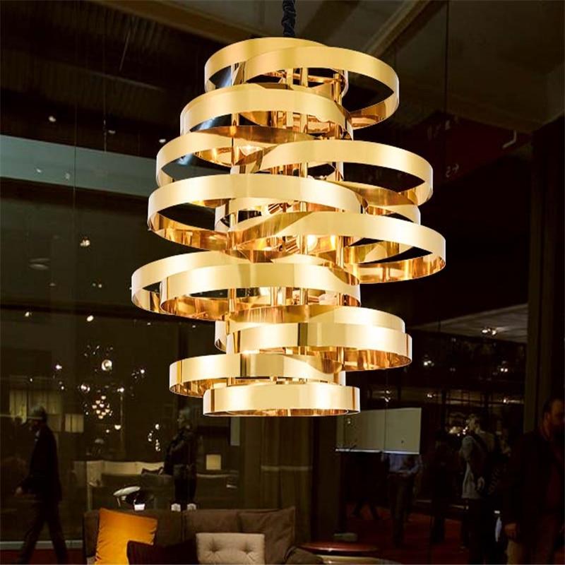 FUMAT Gold Zyklon Pendelleuchte Moderne Wohnzimmer Esszimmer ...
