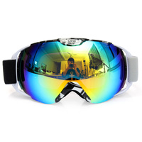 Fashion Unisex Adults Professional Spherical Anti Fog Dual Lens Snowboard Ski Goggle Eyewear