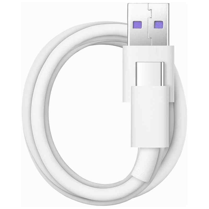 كابل هواوي سوبر تشارج USB 3.1 نوع C 5A سلك بيانات شحن سوبر لهواوي ميت 9 10 20 برو X P10 P20