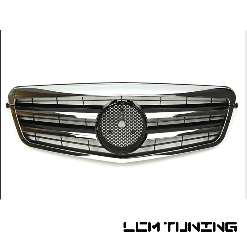 For Mercedes-Benz E-class W212 2009 2010 2011 2012 2013 with Emblem gloss black/flat black/silver/chrome Front Grille