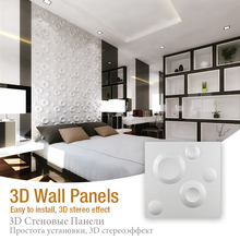 30x30cm 3D art wall panel Mars space statue embossed wood carving flower home wallpaper covering decorative board