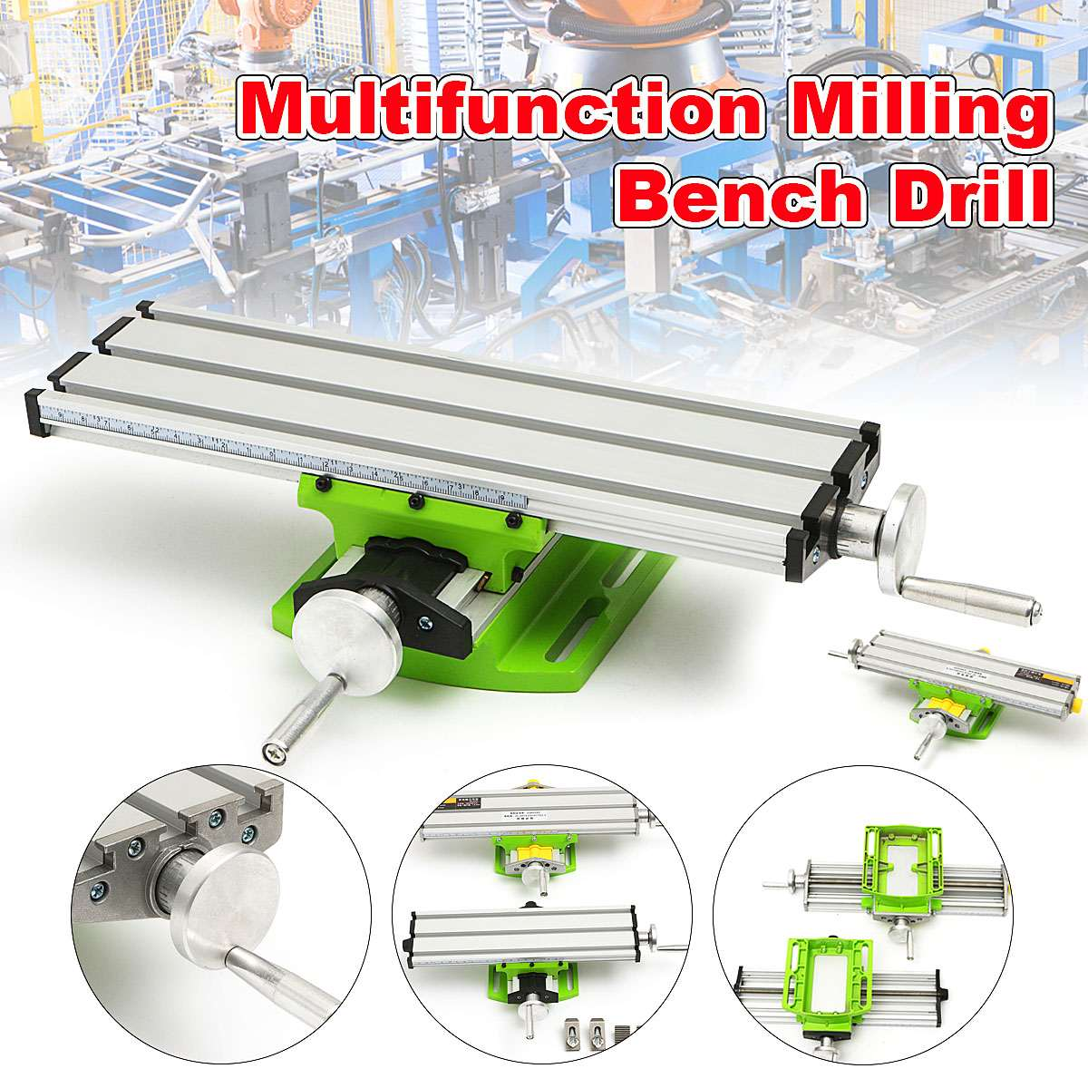 New 2 Axis Milling Machine Compound Table Worktable Adjustment X-Y Milling Working Cross Table Bench Vise Drilling Table BG6330 mini multifunctional cross working table bench vise manual tools x y axis adjustment table for drilling milling machine bg 6330