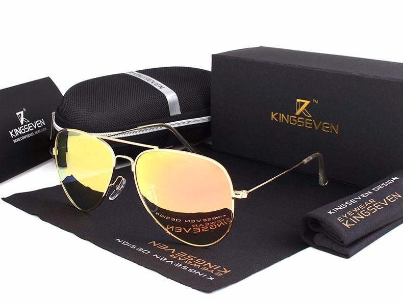 58mm Retro Sunglasses Women Kingseven Luxury Brand Female Sun glasses For Women 16 Fashion Oculos Designer Shades Unisex 3025 12