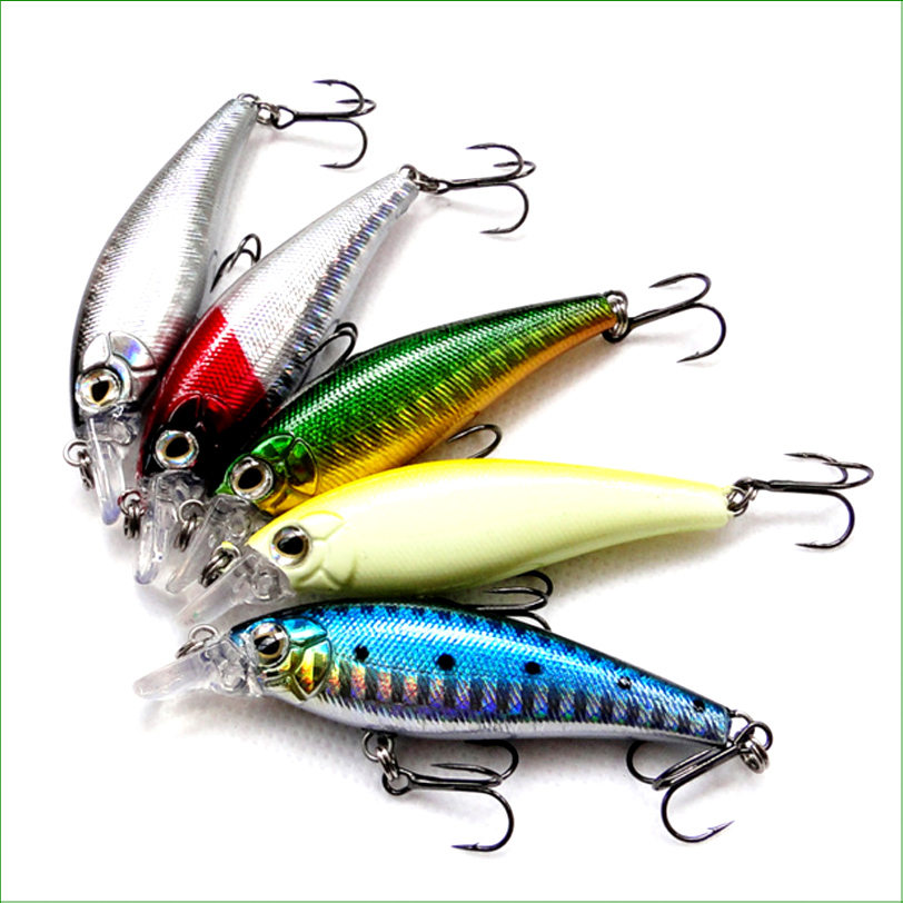L057B Mix 5 pcs Fishing Lure hard bait spinner lure multi-joint Minnow Bait