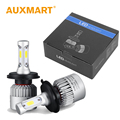 Auxmart H4 Car LED Headlight 72W/set DC 12V 24V Hi-lo Beam Light Bulb Auto Head Lamp 6500k For Chevrolet Lada Nissan Honda Mazda