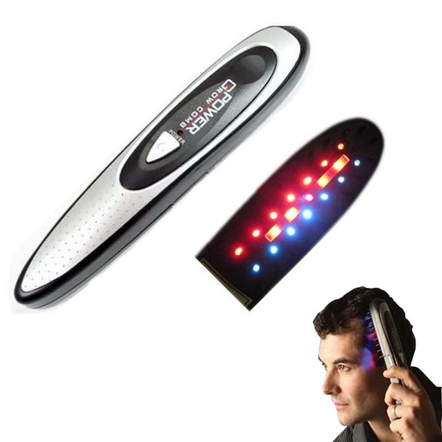 Power laser hair growth Comb Hair brush grow laser hair Loss Therapy comb regrowth device machine ozone infrared Massager laser hair growth comb 6 color led light micro current for hair massage remove scurf n repair hair hair loss