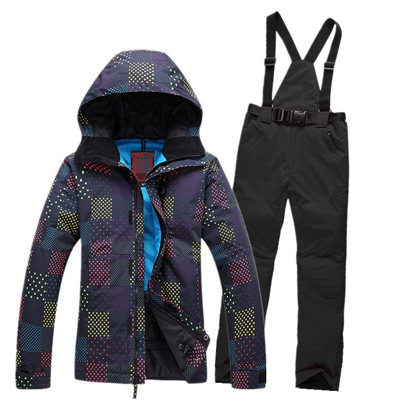 2017 new Sale Rushed Cotton Women Ski Suit Snowboard Skiing Jackets+warm Pants Breathable Windproof Womens Clothing Set Hooded 2016 rushed sale fashion