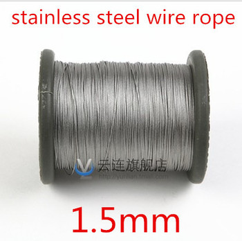 100meter/lot 1.5mm  Roll High Tensile Stainless Steel Wire Rope 7X7 Structure 1.5MM Diameter