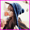 2014 Fashion Autumn Warm Knitted beanies Hats For Women Ladies Winter Ear Protector Skullies Cap
