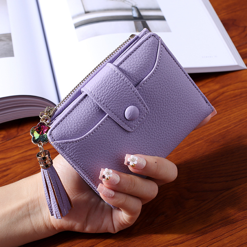 WESTERN AUSPICIOUS Women Wallet 2018 New Purple Blue Gray Black Wallet Female Zipper And Hasp Lady Card Holder anime my neighbour totoro cute card bag wallet holder zipper kawaii gray hanging