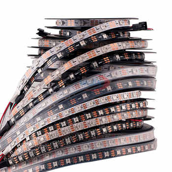 DC5V LED Strip WS2812B 30/60 pixels/leds/m 5M IP30 IP65 IP67 Black/White PCB Address Smart WS2812 IC WS2812 LED Light Strip - DISCOUNT ITEM  44% OFF All Category