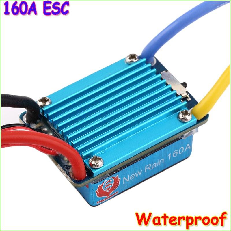 1 pcs À Prova D' Água 160A 3 s com 5 v 1A Escovado ESC BEC T-Plug Para 1/12 RC Car dropship por atacado