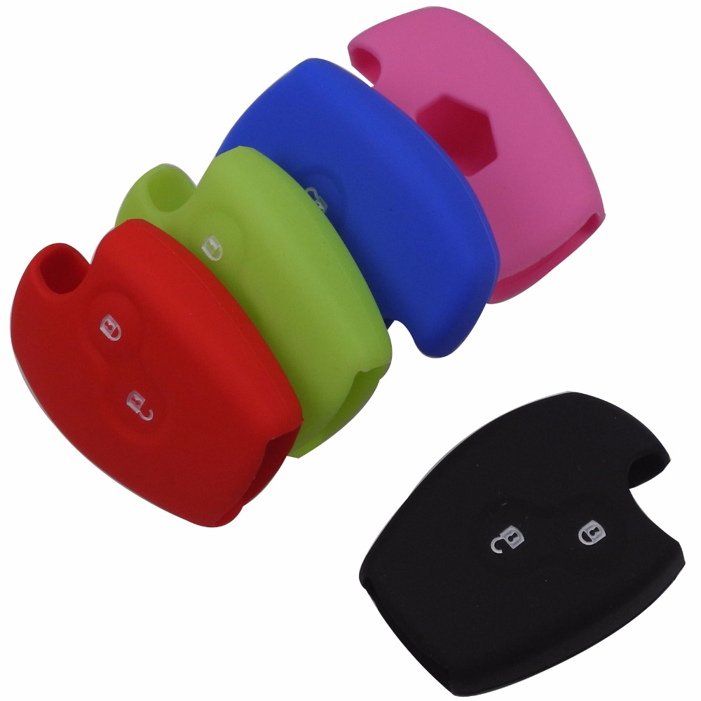 Silicone Car Key Cover Case for Renault Key Shell Protection Cover Car Styling Two 2 Buttons