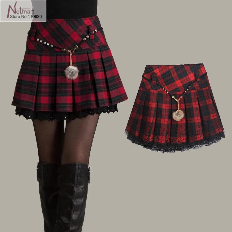 A plaid skirt the