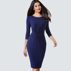 Image 3 - Elegant Work Business Sheath Pencil Office Lady Fancy Autumn Bodycon Formal Career Dress HB476